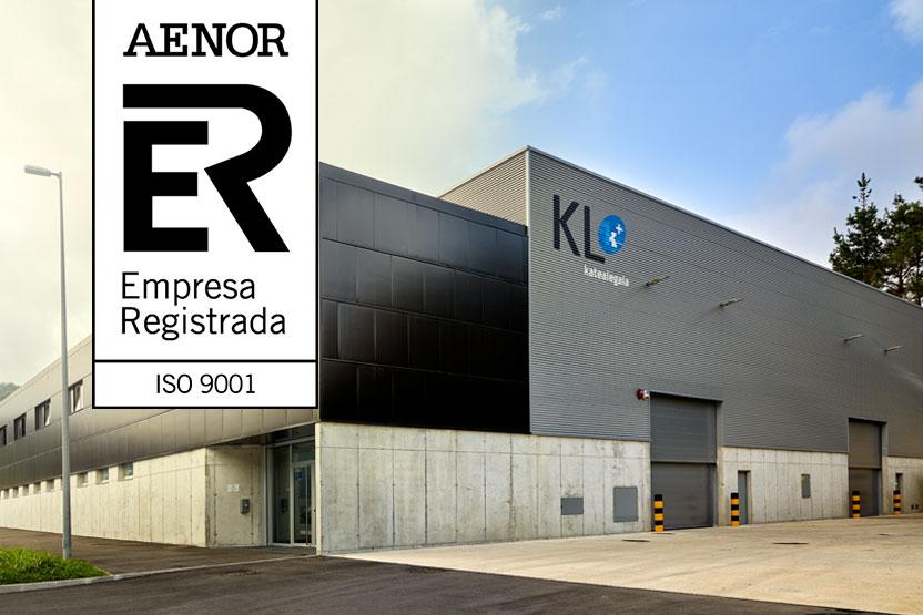 KL katealegaia supera con éxito la certificación ISO de calidad en todas sus actividades y plantas
