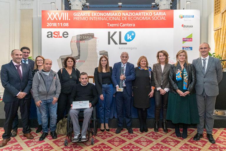 Foto de la entrega del premio Txemi Cantera