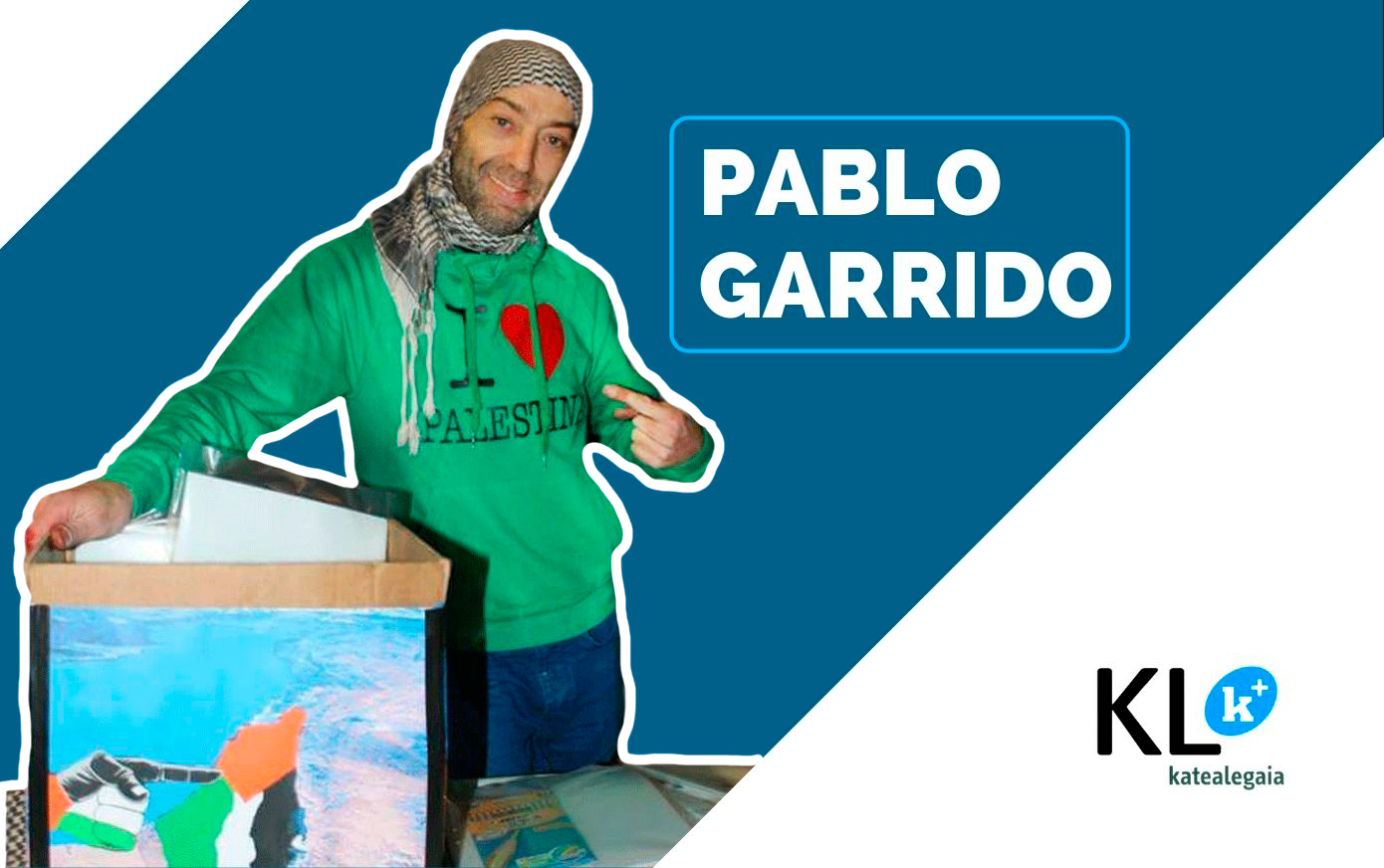 """Pablo Garrido: """"No intento ponerme etiquetas, no me considero un activista, soy un ser humano y lucho por aquello que defiendo""""."""