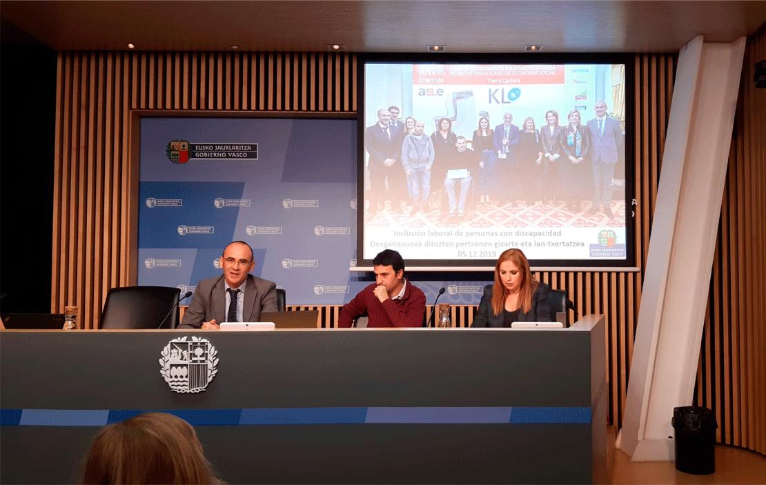 """KL katealegaia participa en la jornada """"Inclusión laboral de personas con dispacacidad"""" organizada por EHLABE y Gorbierno Vasco"""