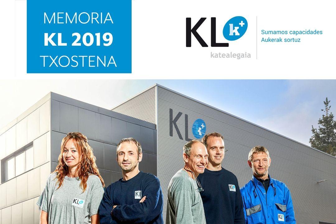 KL katealegaia edita la Memoria del año 2019 | KL katealegaiak 2019ko memoria argitaratu du